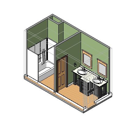 Bathroom Double-Sink from SmartBIM Library