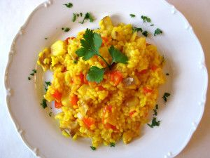 Arroz con bacalao - rice with salted cod, a delicious Spanish one-pot meal