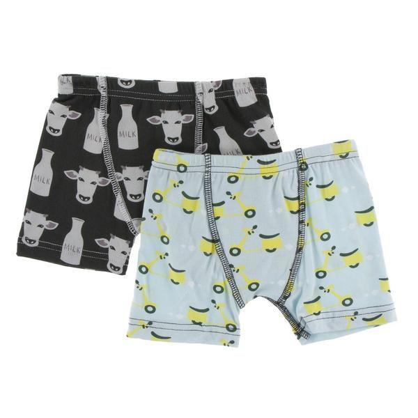 61874f65a451 Kickee Pants Tuscany boys boxer briefs set of 2 zebra Tuscan cow and s –  Zandy Zoos