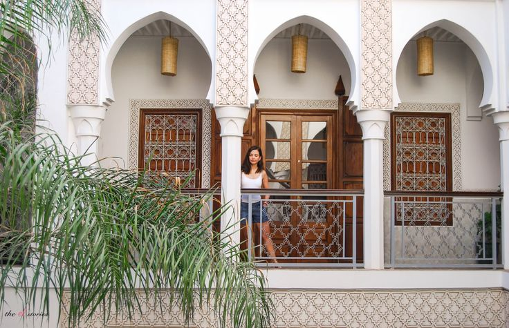 Beautiful architecture in the Riad of Marrakesh