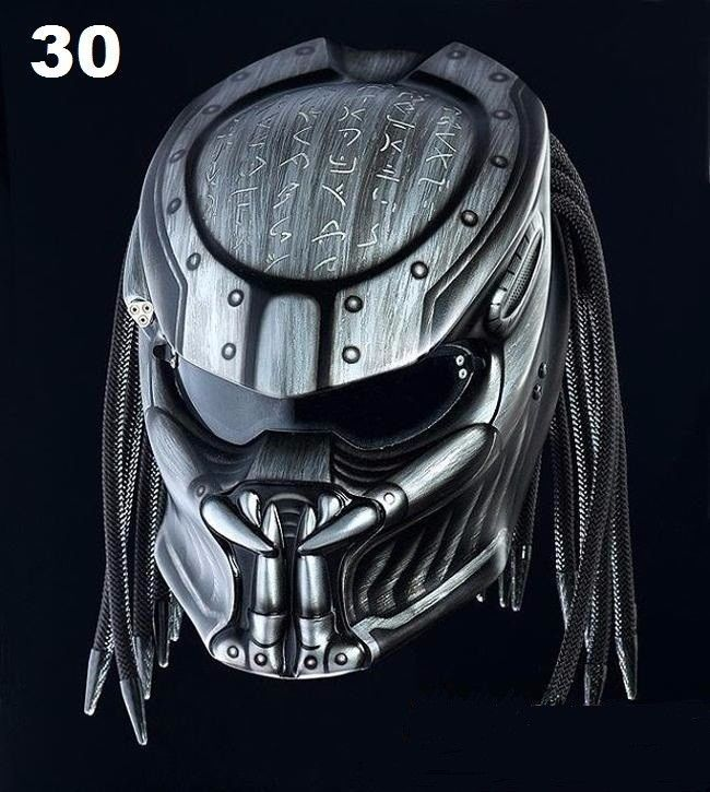 AMAZING PREDATOR HELMET CUSTOM - DOT APPROVED #CELLOSHELMET