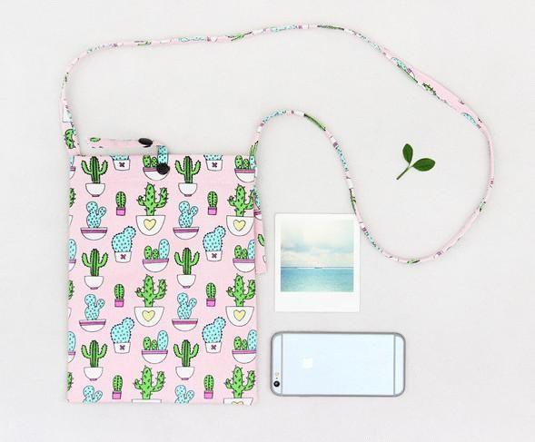Mini Crossbody Cactus Bag in Pink and Green – The Bullish Store - #cactus #pink #green #bag #tote