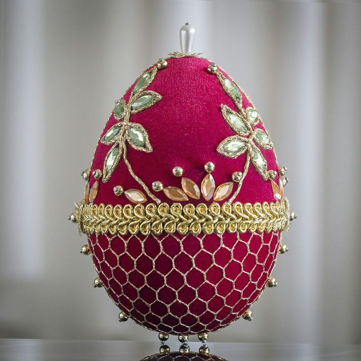 Faberge Egg - red 6