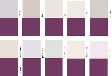 nuancier couleur aubergine pour une association avec du gris ou du lin