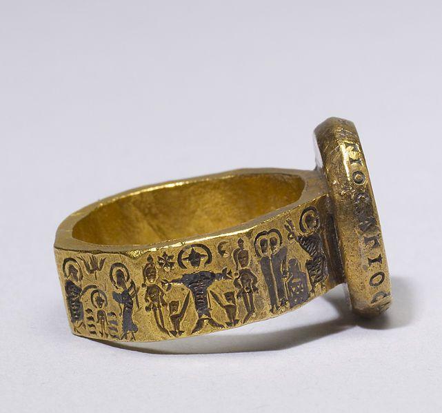 Bague de mariage avec des scènes de la vie du Christ, 6ème siècle