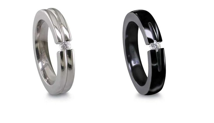 ultra modern wedding rings | Contemporary Engagement Rings on Contemporary Titanium Wedding Bands ...