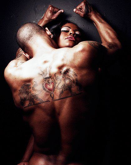 Black men making love