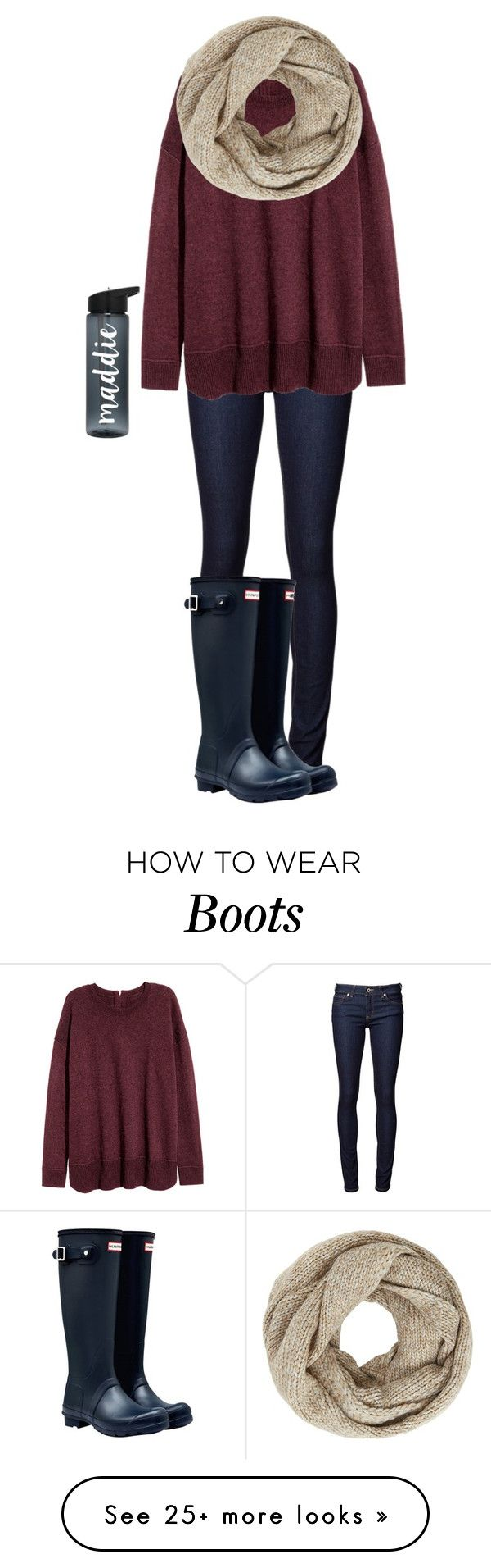 """Hunter Boots"" by blueblondie89 on Polyvore featuring Naked & Famous, John Lewis and Hunter"