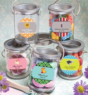 Mini Clear Paint Cans Crafts