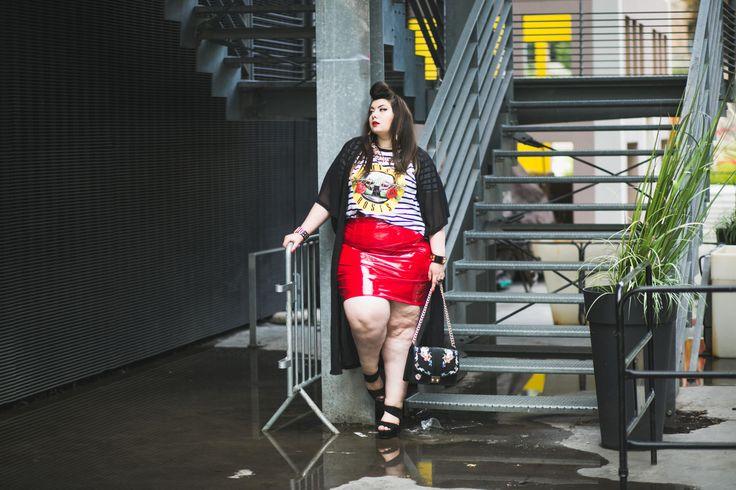 Outfit grande taille vinyle Asos Curve http://freakyuseless.com/2017/07/26/vinyle/