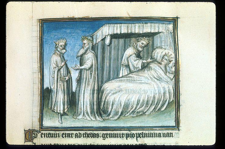 Publius Papinius Statius Thebais , with the argumenta antiqua; Achilleis, Francja, ok. 1405, f22