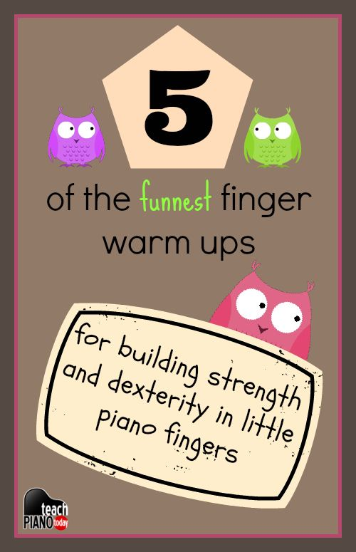 Top 5 Piano Finger Warm Ups for little piano students | teachpianotoday.com #pianoteaching