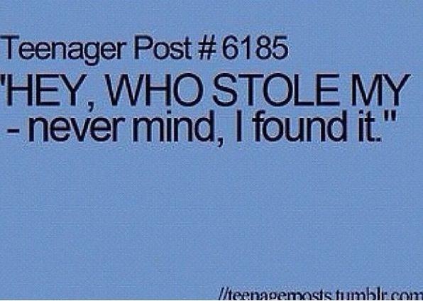 Happens to me everyday in school
