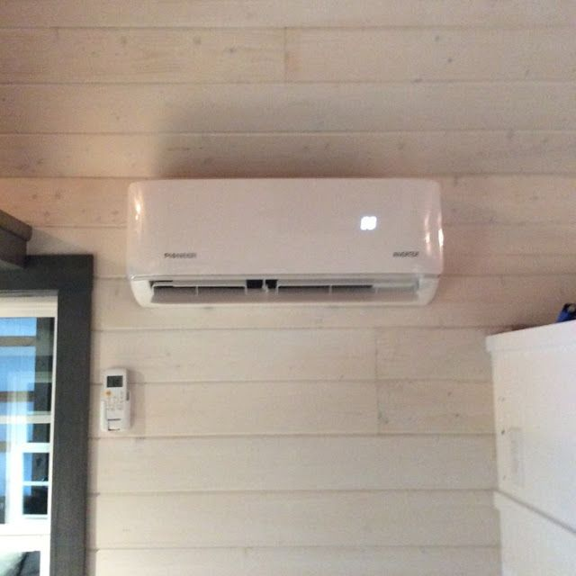 Cottage Style Tiny Home Pioneer Wall Mounted Heating Cooling