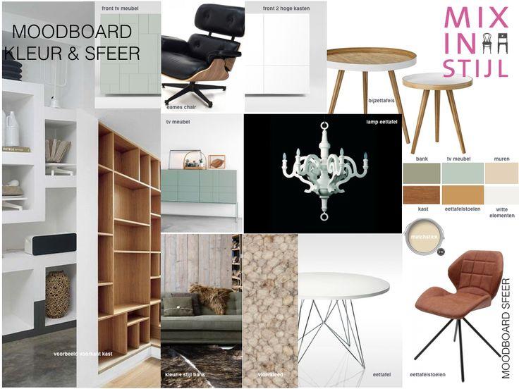 Moodboard sfeer/ kleur & materiaal - Kees & Peggy, Arnhem - interieuradvies van Mix in Stijl - www.mixinstijl.nl