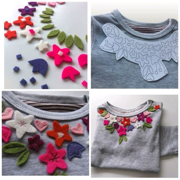DIY t-shirt with flowers