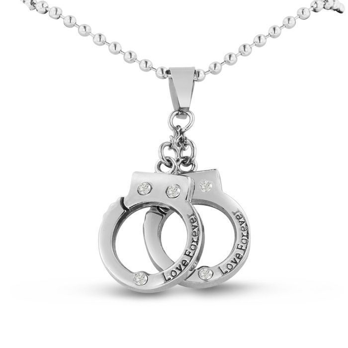 Police Love Forever Handcuff Necklace, 24 Inches #policelove