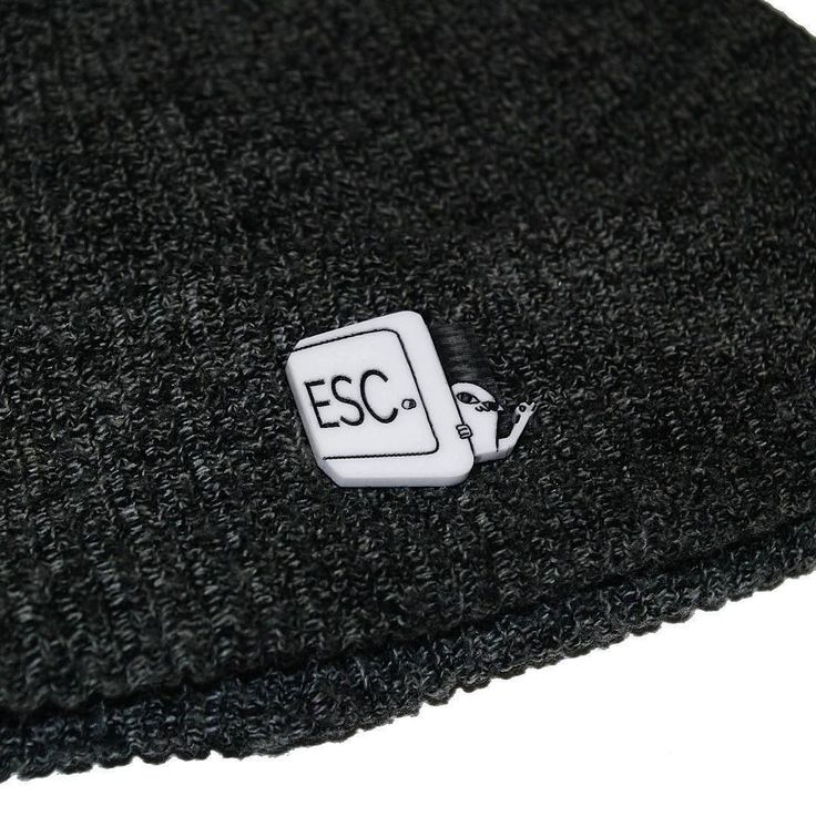 #Repost @peanutbutterpress Our collab with @ketnipz is now available in store here's the ESC Pin on a beanie see bio for link http://ift.tt/2ifIY1k (Posted by https://bbllowwnn.com/) Tap the photo for purchase info. Follow @bbllowwnn on Instagram for great pins patches and more!