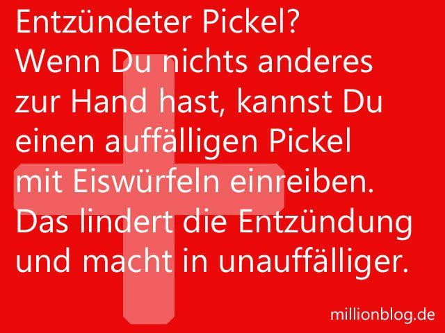 Soforthilfe bei entzündetem Pickel
