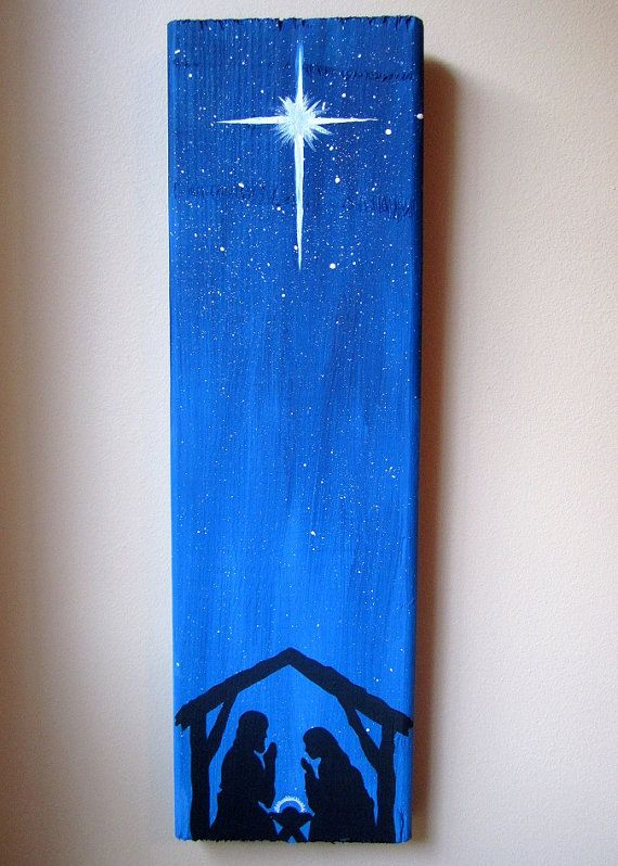 Hand Painted Nativity Scene Christmas Decor by ImaginarySigns