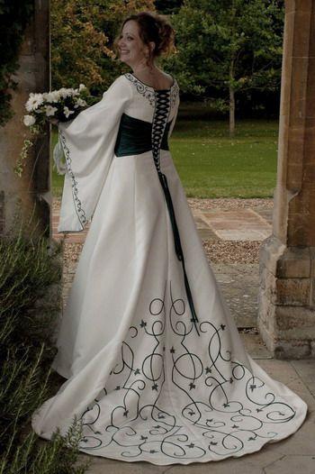 modern celtic wedding dresses