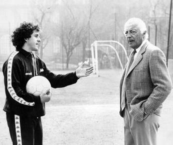 Michel Platini y Gianni Agnelli, idolo y dueño de la Juventus
