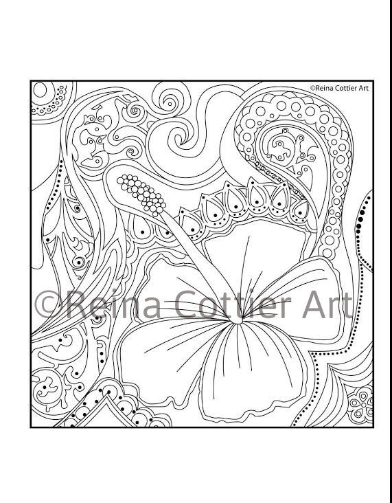 Adult Coloring Book- Reina Cottier Art.  Buy or View here: https://www.etsy.com/listing/240707291/reina-cottier-art-colouring-book-for?ref=shop_home_feat_1