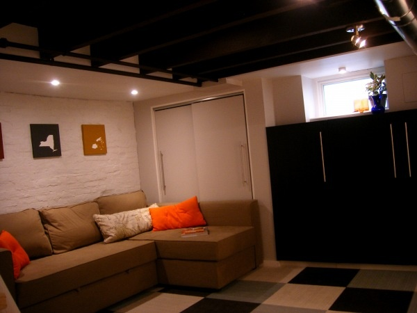 130 best images about unfinished basement ideas on pinterest exposed ceilings temporary - Cheap finished basement ideas ...