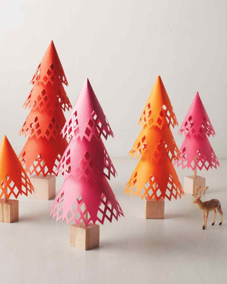 353 best paper trees images on pinterest christmas for Martha stewart xmas crafts