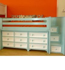 Love the way they painted this. Deluxe Winchester Junior Loft Bed w/Staircase