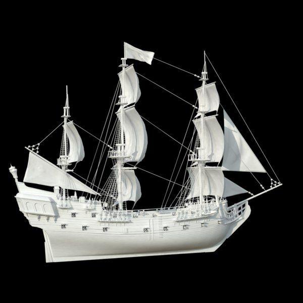 Modelo 3d Barco Pirata Perla Negra Turbosquid 1220647 Sailing Ships Black Pearl Pirates