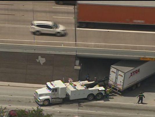 Local Towing Companies Houston: 18-wheeler gets stuck under SW Freeway overpass (via khou.com) - http://www.khou.com/story/news/traffic/2015/06/11/18-wheeler-gets-stuck-under-sw-freeway-overpass/71086286/  #Southwest #Houston #Freeway #18Wheeler #Kirby #towing #Wrecker #Local #service