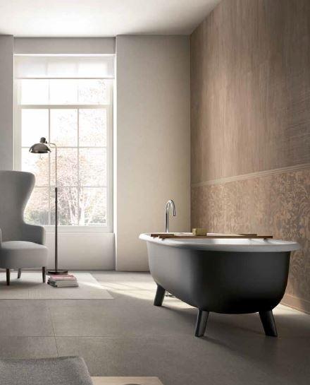 Tile composition by edilcuoghi bathroom gres for Bathroom tiles concept design