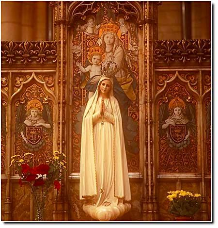 """Breathtaking. Our Lady, Queen of Heaven (""""The Golden Lady"""") from St. James Roman Catholic Church in London. This statue of the Blessed Mother dates from 1840."""