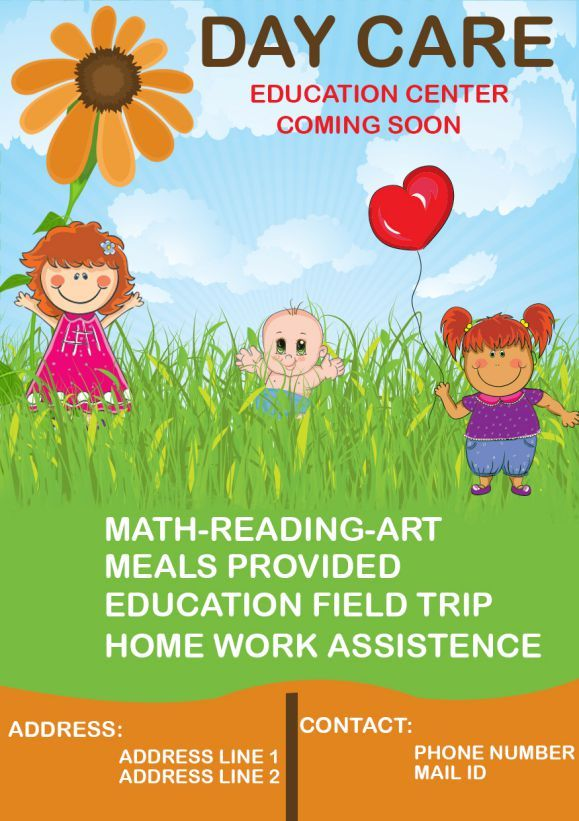 Daycare Coming Soon Flyer Starting A Daycare Preschool Activities Flyer