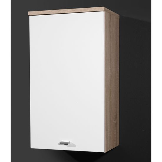 verena bathroom wall cabinet in gloss oak