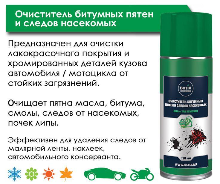 Очиститель битумных пятен и следов насекомых Batix