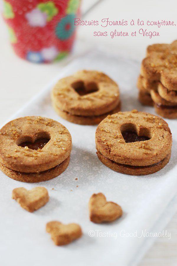 Biscuits #Vegan Fourrés à la Confiture @ tastinggoodnaturally.com