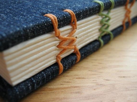 sewn binding spine