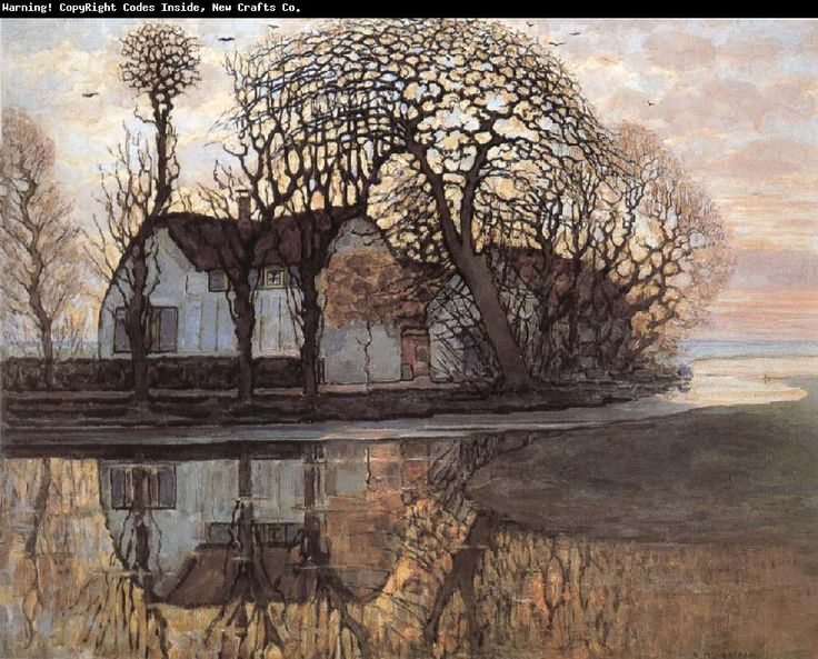 Piet Mondrian. You can see where the impressionism started to explore all those fascinating lines and grids.