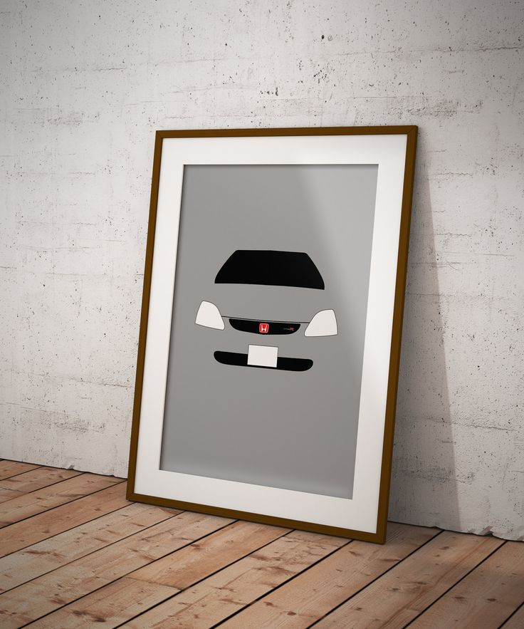 Personalised Honda Civic Type R EP3 Print by RetroMotorCompany on Etsy