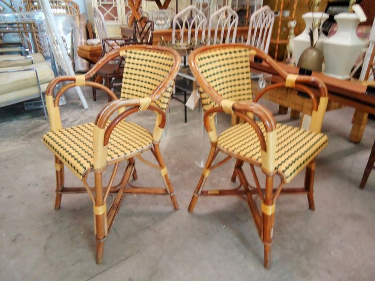 Pair French Drucker Cafe Chairs