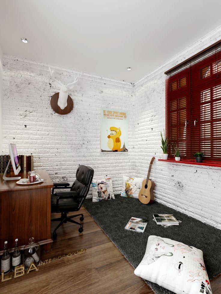 cozy studyroom design