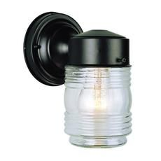 Black Trim Glass Jar Porch Light Home Depot.ca 19$. Wall LightingOutdoor ...