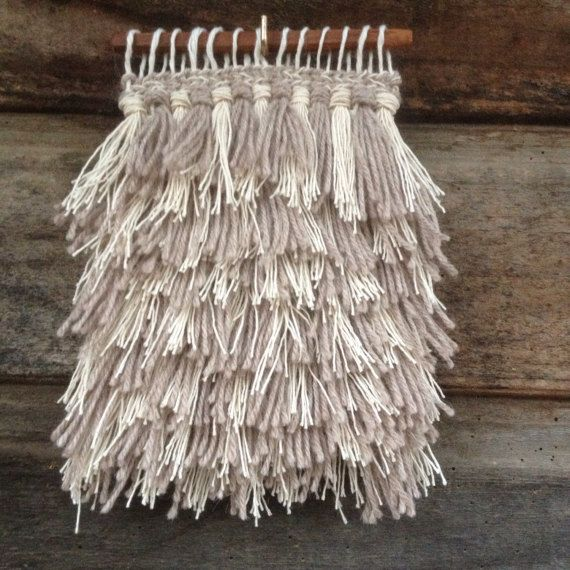 Fringes Mini Wall Hanging by handspunandweaving on Etsy