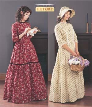 1840 Period Clothing | Women's Butterick Patterns – 4570 & 3992