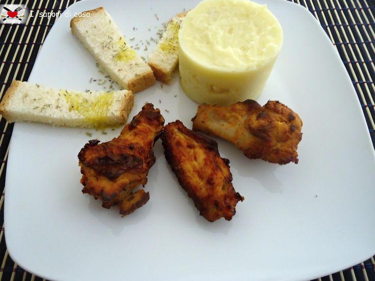 Ali di pollo all'americana cotte al forno