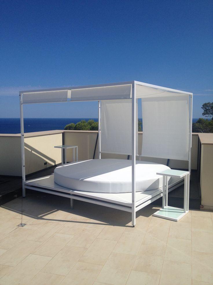 cama chill out muebles de terraza metlicos lacados con pintura al polvo al horno especial interprete firma veganox pinterest pintura