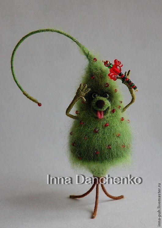 елка вязаная новогодняя, елка игрушка, Новый Год, Ёлк Палыч, Данченко Инна