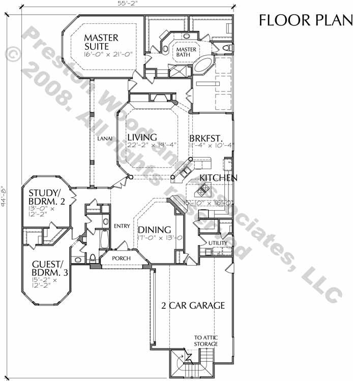 empty nester home plan c7153